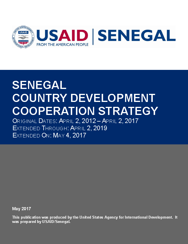 Senegal COUNTRY DEVELOPMENT COOPERATION STRATEGY