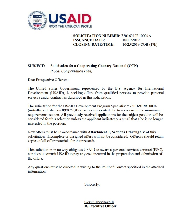 USAID Monitoring and Evaluation (M&E) Specialist