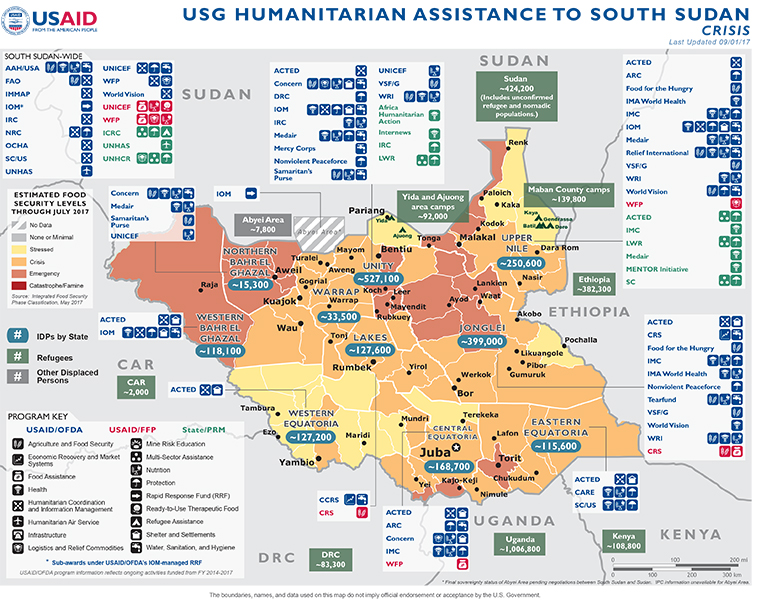 South Sudan Disaster Assistance US Agency For International - Best crs for us map