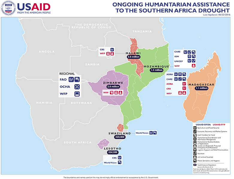 Southern Africa Map - 06-22-2016