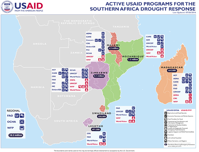 Southern Africa Map - 07-26-2016