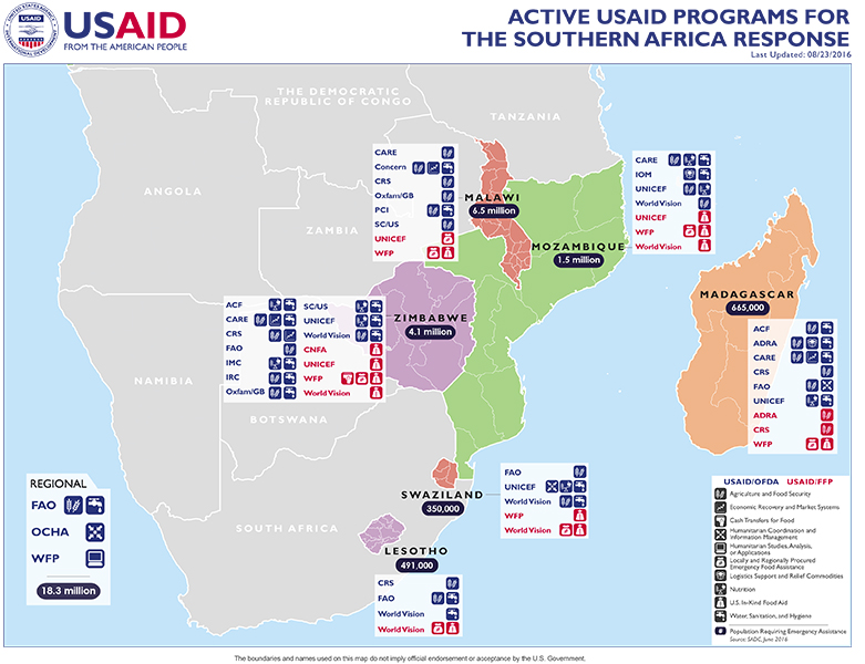 Southern Africa Map - 08-23-2016