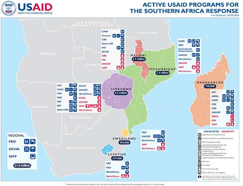 Southern Africa Map - 12-22-2016