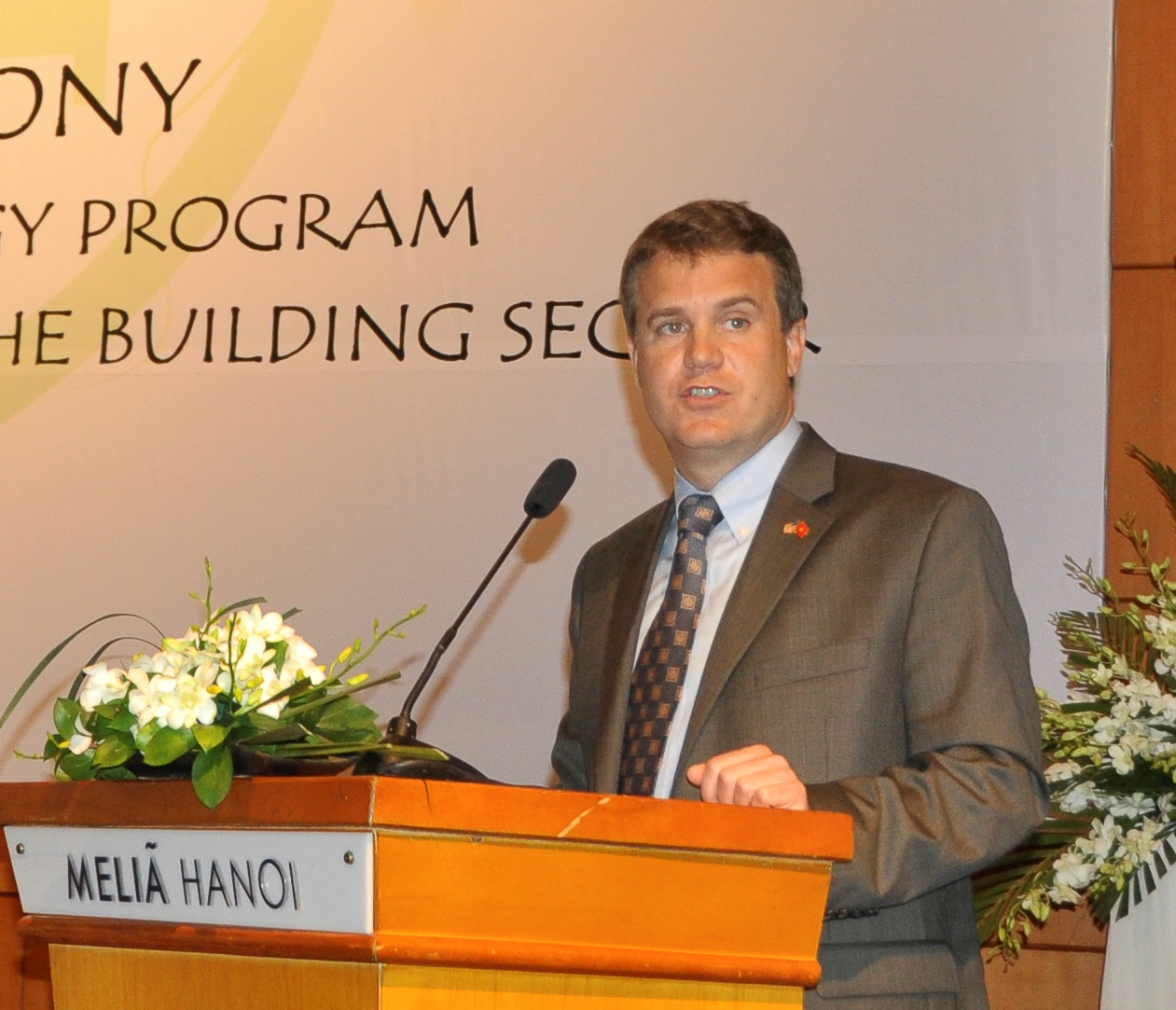 Acting Senior Deputy Assistant Administrator Jason Foley speaks at the launching ceremony.