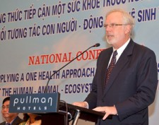 U.S. Ambassador David Shear speaks at the Vietnam One Health Conference