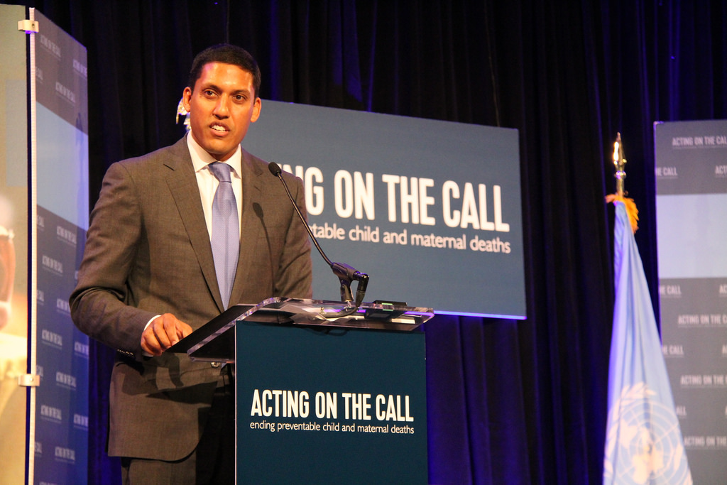 Administrator Shah speaking at the Acting On The Call conference