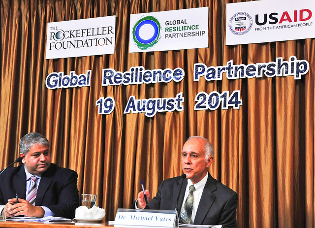 USAID Regional Mission for Asia Director Michael Yates addresses the Asia launch of the Global Resilience Partnership.