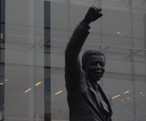 Statue of Nelson Mandela at the Embassy of South Africa, Washington DC