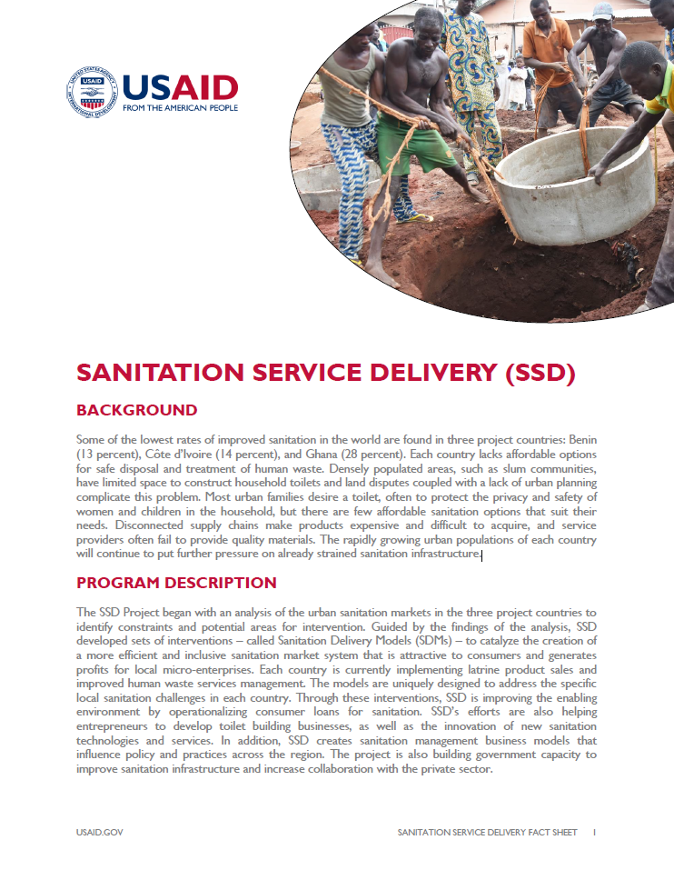 Sanitation Service Delivery (SSD)