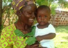 Esther Ouma with her son, Barrack.