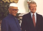 India Prime Minister Morarji Desai with U.S. President Jimmy Carter