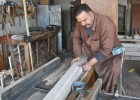 Faris Malik in his expanded Tikrit workshop.