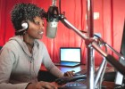 "Catherine ""Chiku"" Wanjiku, a news editor and on-air journalist for the community radio station Loch FM in Korogocho, Nairobi, wa"