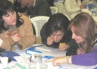 Teachers participate in classroom observation training at the American University of Beirut, Dec. 16, 2011.