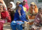 Women participate in a community mobilization activity conducted by USAID's FALAH project.