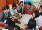 A team discusses how to address dangerous speech during the PeaceTech Exchange in Burma.