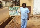 Elizabeth Coker, better known as Nurse Betty, founder of the maternal and child health post in the Malama suburb of Freetown, Sierra Leone