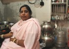 Ruksana Begum in her kitchen
