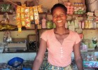 Rita Mbewe can afford a smile because of a healthy family and good income.