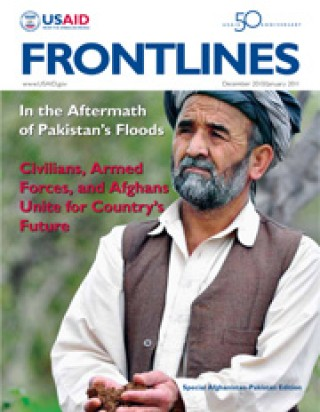 Cover of the December/January issue of Frontlines