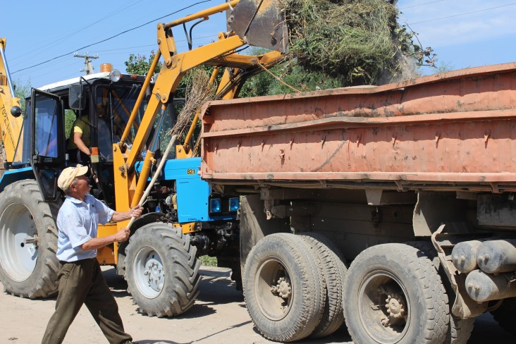 USAID helps to improve services like trash collection.