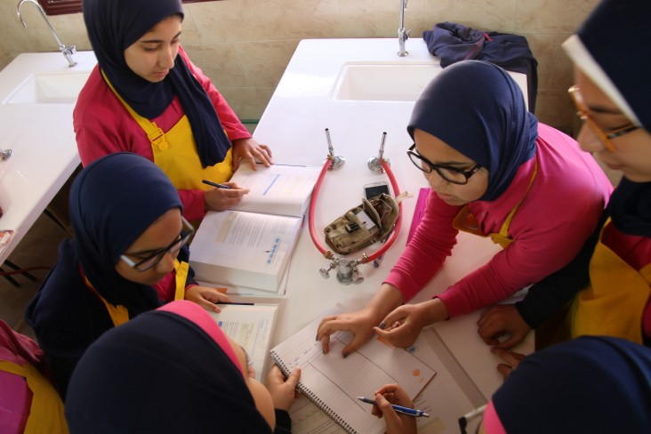 Students at Maadi STEM School for girls
