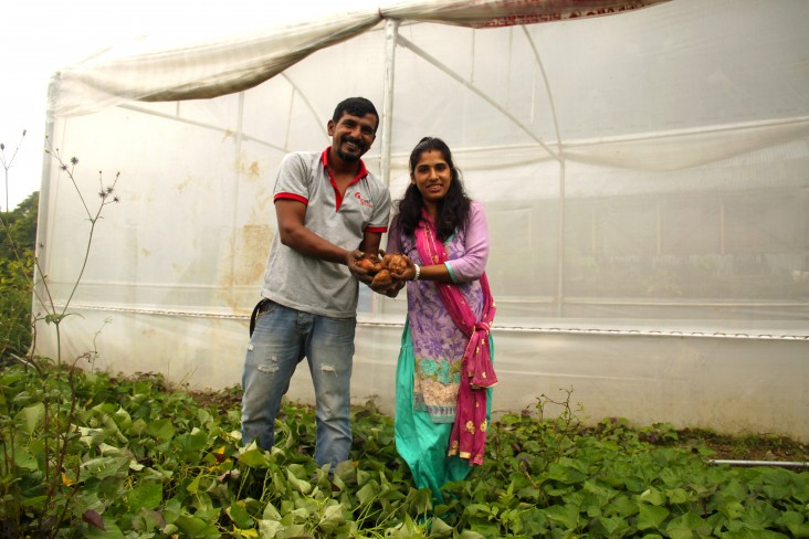Shradha Adikari and her husband Ramesh