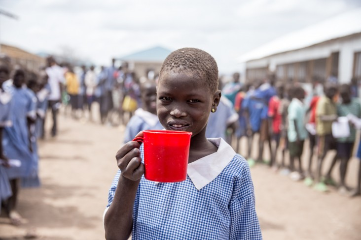Girl at Kakuma Refugee Camp in Kenya
