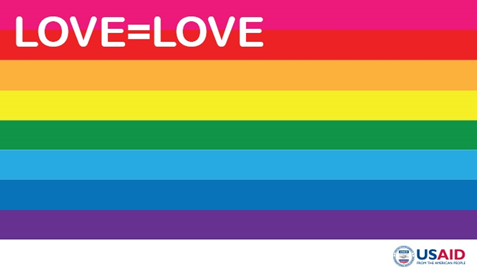 USAID's Love=Love rainbow banner for coloring the Internet for LGBTI rights.