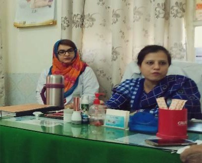 Dr. Mahvish and Dr. Humera are two of the newly posted female doctors at Hazrat Khadija Hospital-Hyderabad.