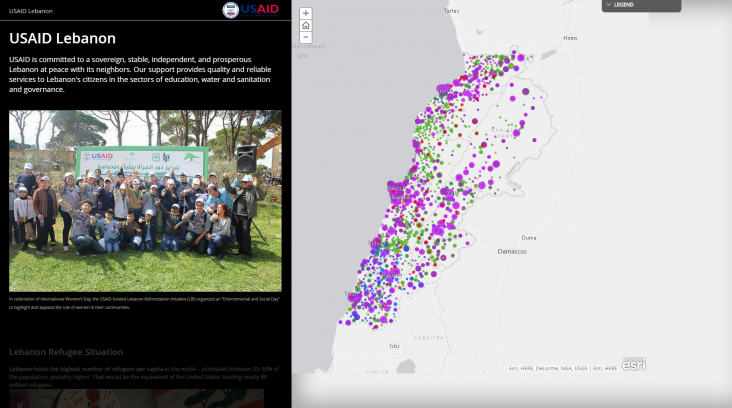 Story Map - USAID Work in Lebanon