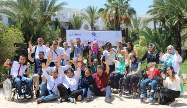 Libyan activists gather in Djerba to participate in CEPPS/IFES' Disability Action Plan Roundtable.