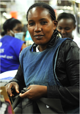 Photo of garment worker in East Africa