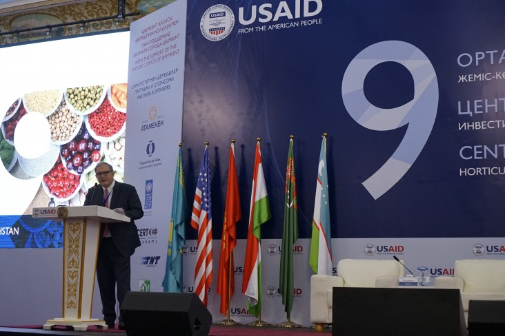 USAID Deputy Assistant Administrator Javier Pierda delivering opening remarks at the ninth Central Asia Trade Forum in Shymkent, Kazakhstan 2019