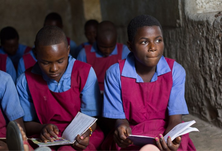 USAID invests in and promotes girls' education in Malawi where drop-out rates for girls is very high due to societal issues such as early pregnancies.