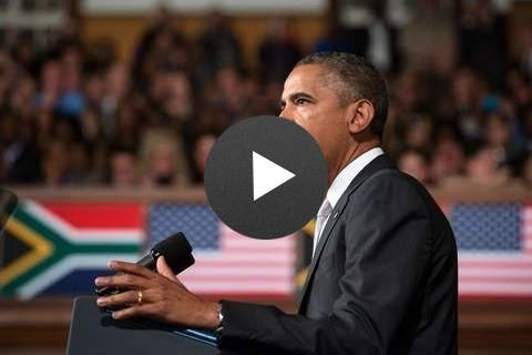 President Obama Speaks at the University of Cape Town - click to view video