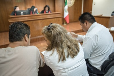 Public defenders in Cuernavaca receive training on the new oral adversarial criminal justice system.