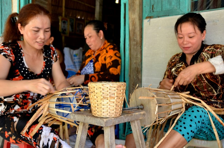 Women in the Mekong Delta enjoy better livelihoods thanks to village bank loans and small business training supported by USAID.