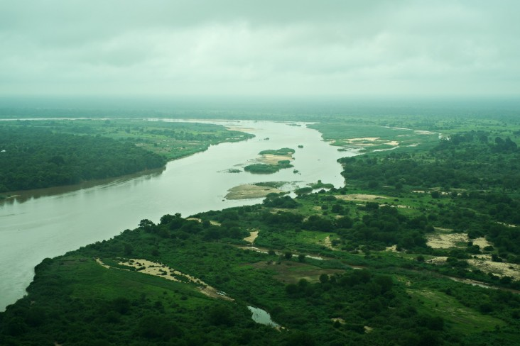 Aerial view of the Rufiji River