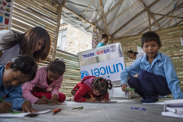 Post earthquake, USAID is supporting more than 1,000 Temporary Learning Centers to keep children in schools