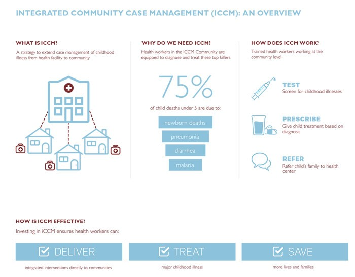 Graphic showing an overview of integrated community case management