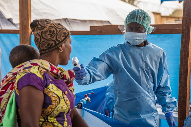 USAID is responding to an Ebola outbreak in DRC's North Kivu and Ituri provinces, working with partners to boost infection prevention and control, upgrade water, sanitation, and hygiene infrastructure at health facilities, raise awareness about Ebola in communities, and provide other life-saving assistance.