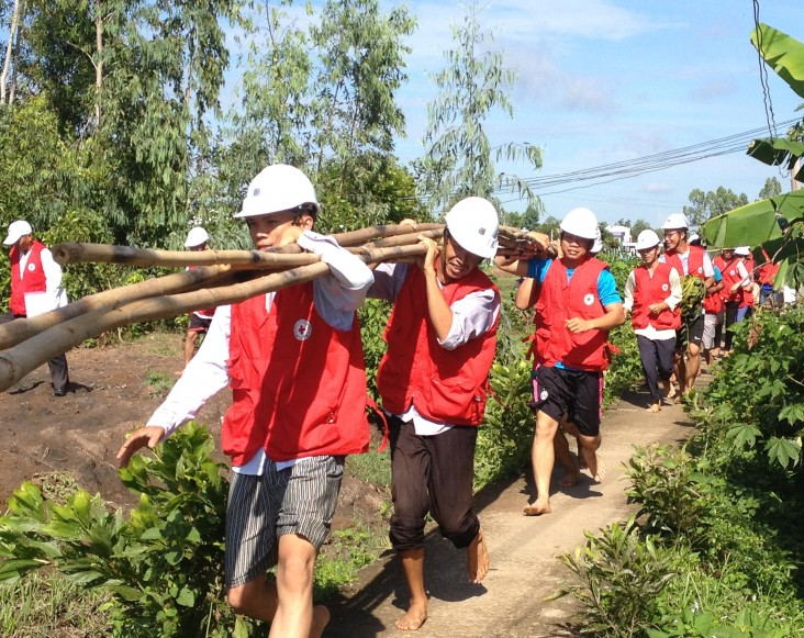 USAID supports a disaster response drill in the Mekong Delta province of Long An.