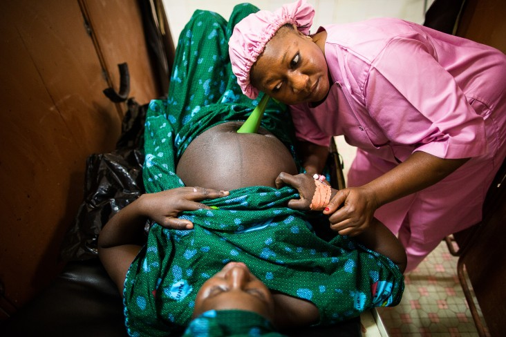 A Malian midwife provides lifesaving maternal care to prevent complications such as obstetric fistula, a debilitating childbirth injury that can occur during prolonged or obstructed labor.