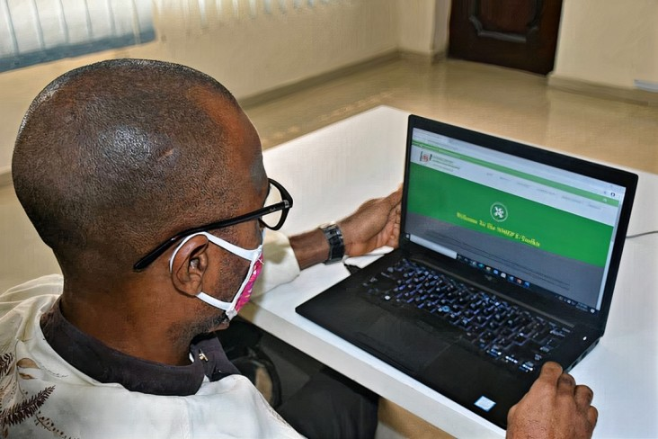 The NMEP electronic toolkit in use by a health care worker in Cross River State, Nigeria