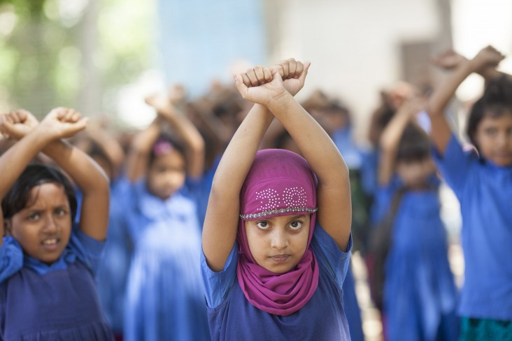 Girls in Bangladesh learn self-defense