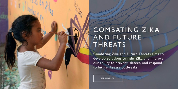 COMBATING ZIKA AND FUTURE THREATS is working to stop the spread of Zika and prevent other infectious disease outbreaks.