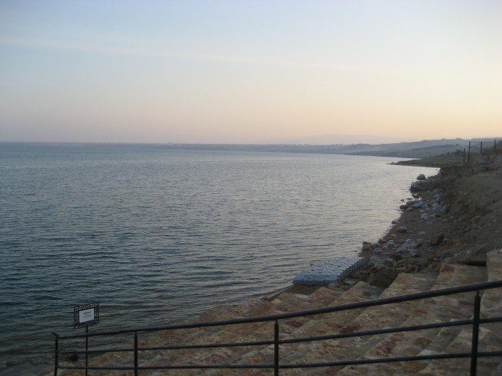 Image of the Dead Sea and its coast in Jordan.