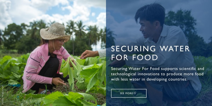 SECURING WATER FOR FOOD supports scientific and technological innovations to produce more food with less water in developing countries.