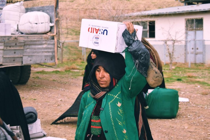 USAID airlifted relief supplies to help people affected by severe drought.